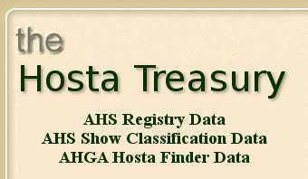 Welcome to the American Hosta Society Online Registry &  		Database for the Plant Genus Hosta